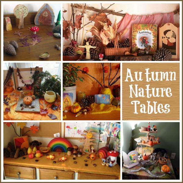 Exemplos de mesas de outono